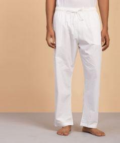 Traditional White 'Pajama' Pants - Men