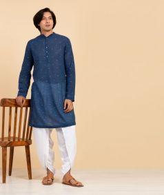Mens Khadi Dhoti - White