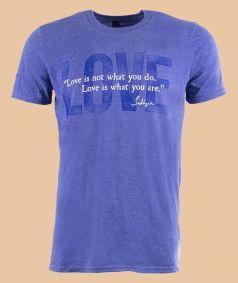 Unisex T-Shirt - Love - Heather Blue