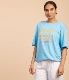 Unisex T-Shirt - Surya Namaskaram - Blue