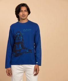 Adiyogi Unisex T-Shirt, Blue