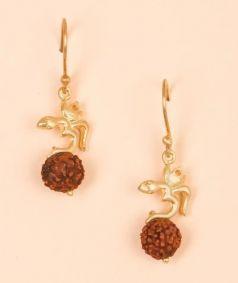Aum Rudraksha Earrings