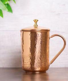 Isha Water Jug - Hammered Copper